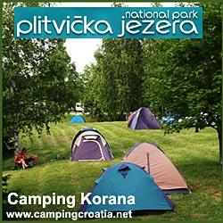Campsite Korana on Plitvice Lakes National PArk