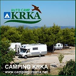 Camping Krka at Krka National Park, Croatia