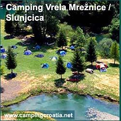 Campsite on Vrela Mreznice river, Croatia