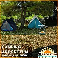 Campsite Arboretum at Pasman Island in Croatia