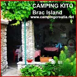 campsite kito on brac island
