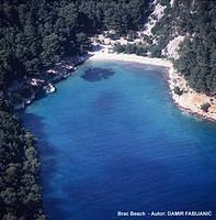 Coastline on Brac island